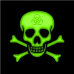 Green Biohazard Skull