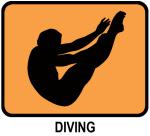 Mens Diving (orange)