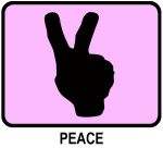 Peace (pink)