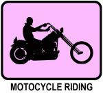 Motocycle Riding (pink)