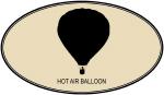 Hot Air Balloon (euro-brown)