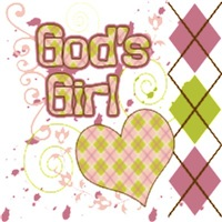 God's Girl - Pink Argyle