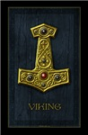 Thor's Hammer X Gold- Viking Poster