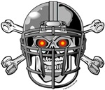 Football Helmet Skull and Crossbones