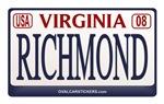 Virginia Plate RICHMOND
