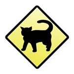 CAUTION! Cat Crossing