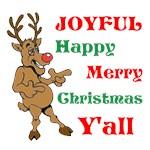 Funny Reindeer Joyful Christmas