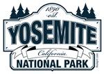 Yosemite National Park Blue Sign