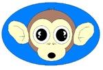 MONKEY FACE (BLUE BACKGROUND)