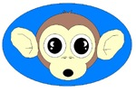 MONKEY FACE (BLUE BACKGROUND)