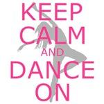 Neon Pink Keep Calm Dance On