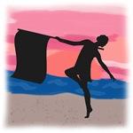 Colorguard Dancer at Sunset