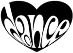 Black and White Dance Heart