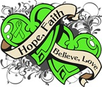 Lymphoma Hope Faith Dual Hearts Shirts