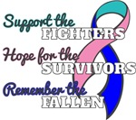Thyroid Cancer Support Hope Remember Shirts