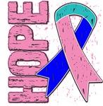 Thyroid Cancer Hope Ribbon Shirts