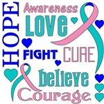 Thyroid Cancer Hope Words Shirts