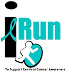 I Run To Support Cervical Cancer Awareness T-Shirt
