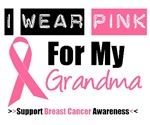 I Wear Pink (Grandma) Breast Cancer T-Shirts