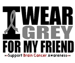 I Wear Grey (Friend) Brain Cancer Shirts