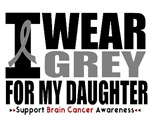 I Wear Grey (Daughter) Brain Cancer Shirts & Gifts