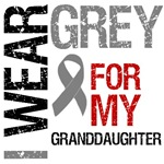 I Wear Grey (Granddaughter) Brain Cancer Shirts