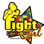 Autism Fight Like a Girl Shirts