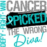 Ovarian Cancer Picked The Wrong Diva Shirts