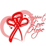 AIDS Support Love Hope Heart