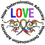 Autism Love Tribal Ribbon