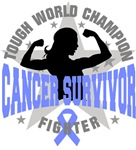 Stomach Cancer Tough Survivor Shirts
