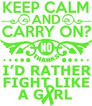 Lymphoma Keep Calm & Fight Like A Girl Tees