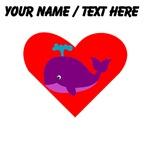 Custom Purple Whale Heart