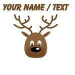 Custom Cute Brown Reindeer