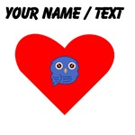 Custom Blue Owl Heart