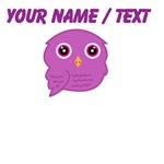 Custom Purple Owl