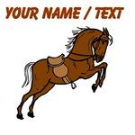 Custom Brown Stallion With Saddle