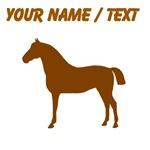 Custom Brown Horse Silhouette