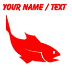 Custom Red Trout Silhouette