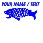 Custom Blue Coy Fish