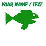 Custom Green Cartoon Fish