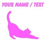 Custom Pink Cat Stretching