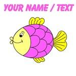 Custom Pink Tropical Fish