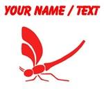 Custom Red Dragonfly