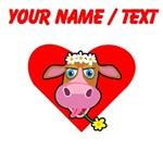 Custom Cow Face Heart