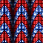 Superheroes - Red, Blue, White Stars