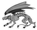 Grey Dragon With Wings