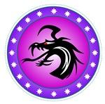 Purple Round Dragon Icon