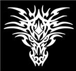 White Tattoo Dragon Face
