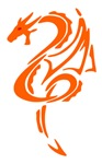 Orange Dragon Design